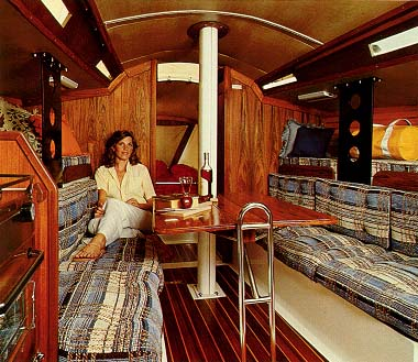 Santana 35 interior photo from original WD Schock sales brochure